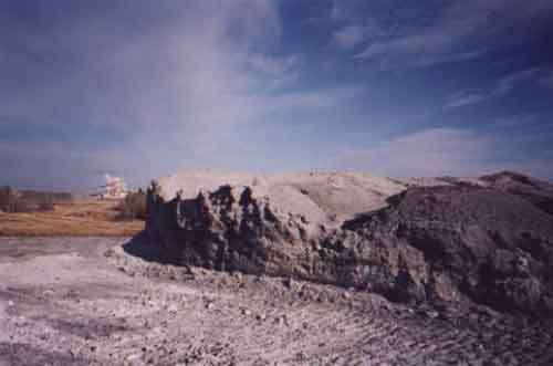 Fly ash stored at the landfill on Alberta-Pacific's land near Athabasca