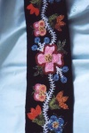 Intricate beading on a belt