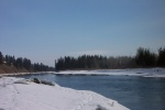February 29, 2004 - Last day for fishing before the regulated spring closure of fishing on the Red Deer River.  Lots of melting since last weekend.