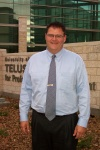 Mark Norris,  Alberta's Minister of Economic Development, at the TEC Edmonton Launch on October 14th, 2004.  Mark was just leaving in his vehicle when he graciously agreed to pose for this photo in front of the Telus Professional Development Centre on the U of A campus where TEC Edmonton was making its debut.