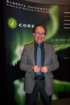 Dr. Randy Goebel, new iCORE President and CEO, beams at the launch of the two new research chairs at the UofA and Uof C