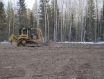 Dozer leveling subsoil