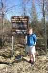 May 5, 2005 - Wagner Bog is a very special place just east of Edmonton on the Yellowhead.  The marl ponds and spruce forest are home to countless species, from rare orchids to boreal toads.  Zoe is just one many people who join the annual toad walk to hear the boreal toads whistle - they only make the sound during mating season.