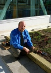 Trevor Sziva of Soprema Canada provided technical expertise, growing medium and other materials for the roof top eco garden