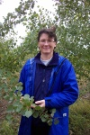 Dr. Barb Thomas with the Chinese Aspen progeny