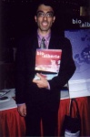 Karim Sianni of BioAlberta at the Technology for Success 2001 Trade Fair